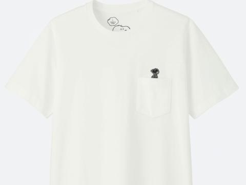白色小口袋T恤 HK$99