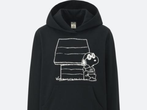 黑色大圖案連帽衛衣 HK$199