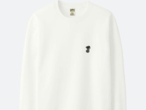白色小黑色Snoopy 圖案衛衣 HK$149