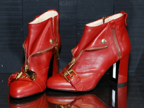 Moschino red high heels $3,750 (Original Price: $12,499)