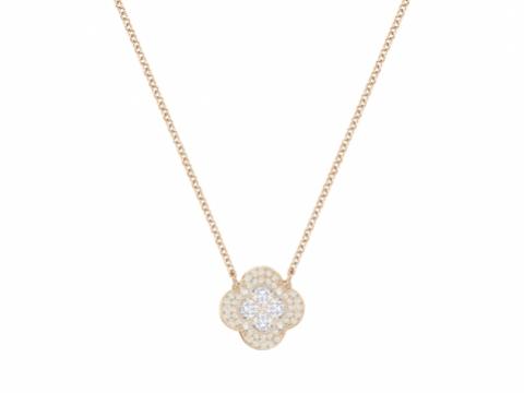 Swarovski金色花花水晶吊飾頸鏈 HK$1960