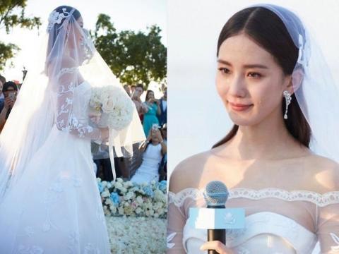 劉詩詩的婚紗由法國老牌Carven度身訂造。