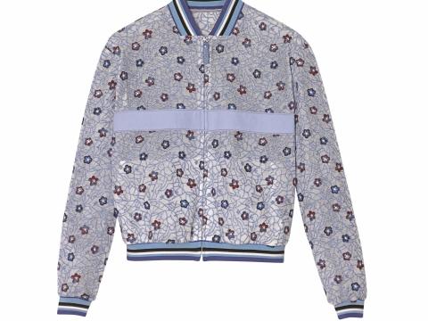Longchamp floral pattern bomber jacket $6,600