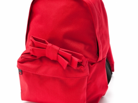 Comme des Garcons Girl red ribbon backpack $1,999