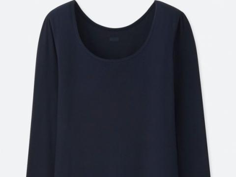 HEATTECH SCOOP NECK T-SHIRT HK$99 (Uniqlo)