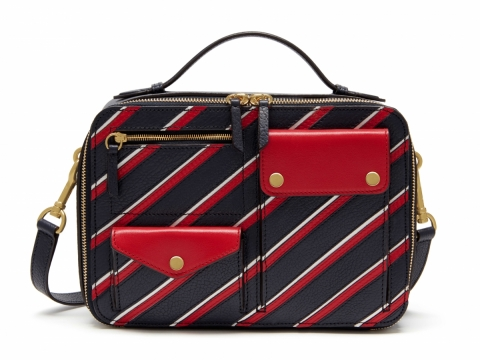 Mulberry Cherwell square college stripe handbag $15,500