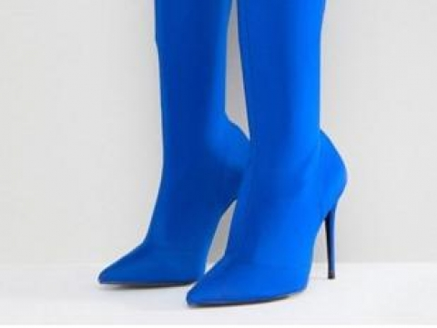 Pointed Toe Heeled Over The Knee Boots HK$793 (River Island)