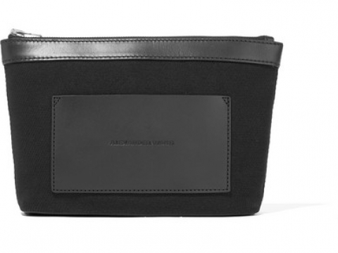 Leather-trimmed canvas pouch HK$980 (Alexander Wang)