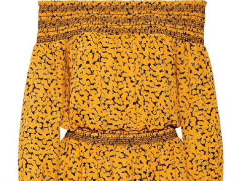 Finley off-the-shoulder printed stretch-crepe dress HK$1,625 (MICHAEL MICHAEL KORS)
