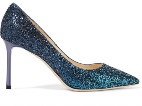 Romy 85 glittered leather pumps HK$3,939 (JIMMY CHOO)