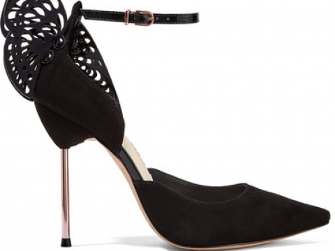 Flutura patent leather-trimmed suede pumps HK$3,276 (SOPHIA WEBSTER)