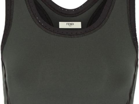 Roma perforated stretch sports bra HK$2,000 (FENDI)