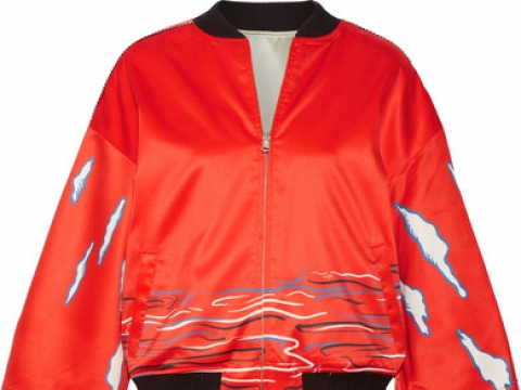 Reversible printed silk-satin bomber jacket HK$4,210 (OPENING CEREMONY)