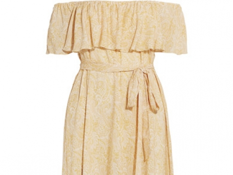 Sunrise Paisley Florence off-the-shoulder voile midi dress HK$1,495 (EBERJEY)