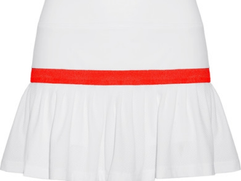 Two-tone stretch-knit and mesh tennis skirt HK$1,080 (L'ETOILE SPORT)