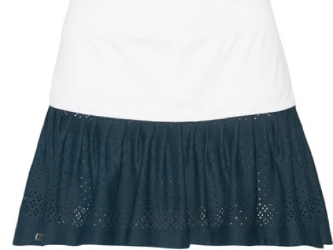 Two-tone stretch-jersey and mesh tennis skirt HK$1,080 (L'ETOILE SPORT)