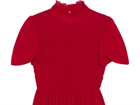 Ruffled smocked chiffon mini dress HK$4,105 (ALEXACHUNG)