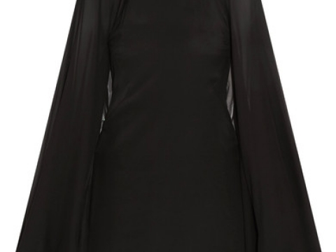 Cape-effect stretch-silk satin and silk-chiffon dress HK$2,860(KARL LAGERFELD)