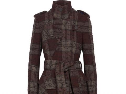 Plaid bouclé-tweed trench coat HK$3,940 (TOPSHOP UNIQUE)
