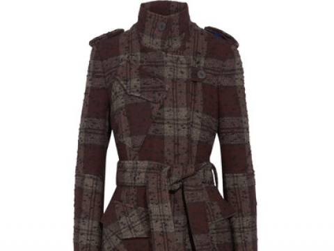 Plaid bouclé-tweed trench coat HK$3,940 (TOPSHOP UNIQUE)