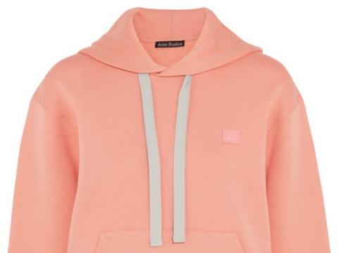 Ferris oversized appliquéd cotton-jersey hooded top HK$2,500 (ACNE STUDIOS)