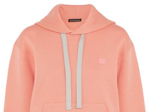 Ferris oversized appliquéd cotton-jersey hooded top HK$2,500 (ACNE STUDIOS)
