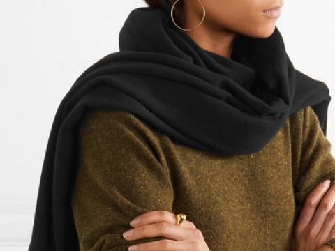 Canada fringed wool scarf HK$1,195 (ACNE STUDIOS)