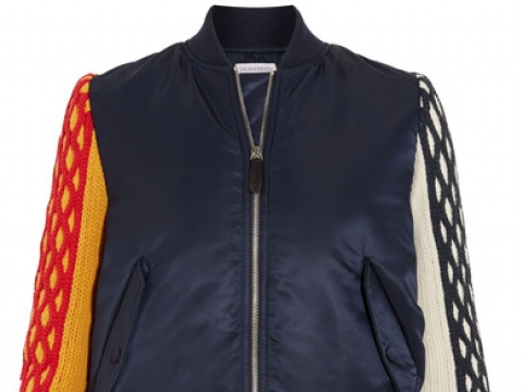 Wool-paneled shell bomber jacket HK$8,973 (JW ANDERSON)
