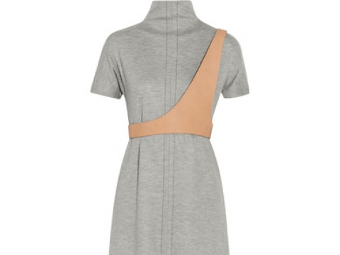 Wool-blend jersey and leather-trim maxi dress HK$25,490 (MAISON MARGIELA)
