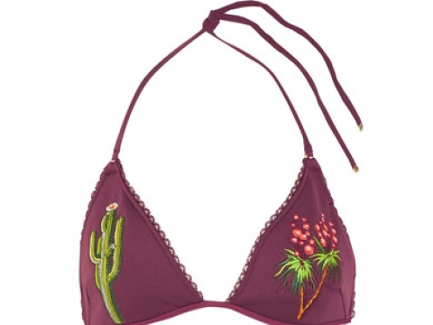 Embroidered triangle bikini HK$1,060 (STELLA MCCARTNEY)