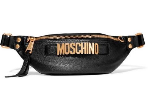 Embellished textured-leather belt bag HK$4,354 (MOSCHINO)