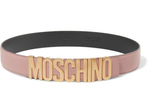 Embellished textured-leather belt HK$1,783 (MOSCHINO)