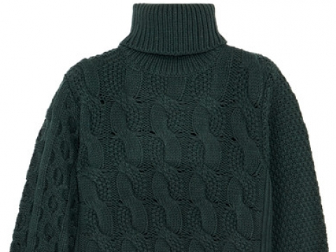 Cable-knit wool-blend sweater HK$1,965 (MM6 MAISON MARGIELA)
