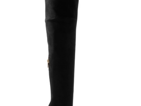 Amazone suede and leather over-the-knee boots HK$11,982(BALMAIN)