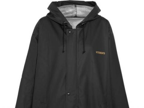 PVC-coated printed shell hooded raincoat HK$3,566 (VETEMENTS)