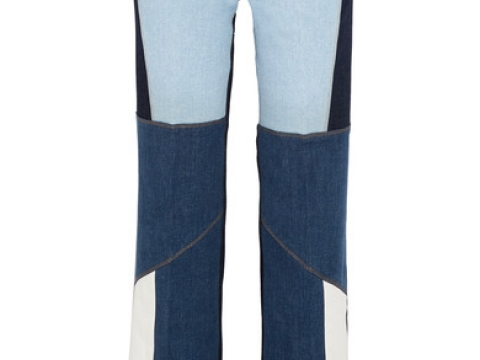 Patchwork high-rise wide-leg jeansHK$3,190 (VICTORIA, VICTORIA BECKHAM)