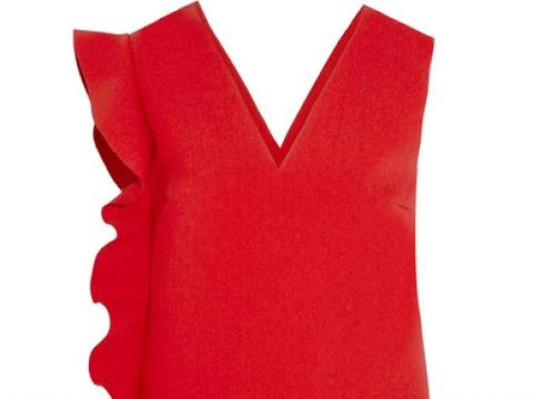 Ruffled crepe mini dress HK$1,566 (MSGM)