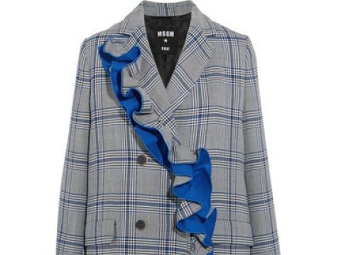 Ruffled checked cotton-blend coat HK$5,305 (MSGM)