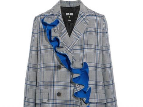 Ruffled checked cotton-blend coat HK$5,305 (MSGM)