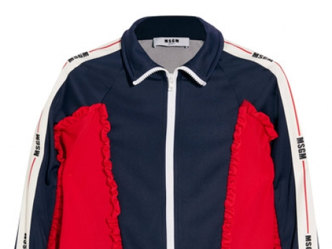 Color-block ruffled tech-jersey jacket HK$2,820 (MSGM)
