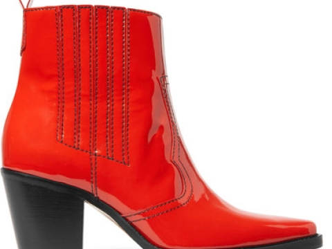 Callie patent-leather ankle boots HK$3,442 (GANNI)