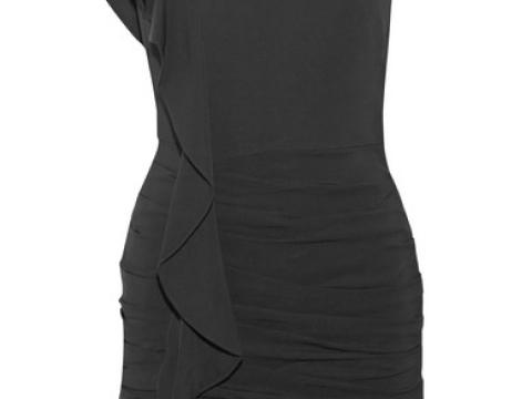 Kingston one-shoulder ruffled dress HK$4,395(VERONICA BEARD)