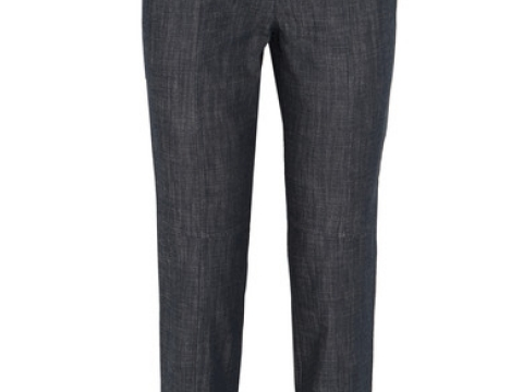 Camille ribbed jersey-trimmed high-rise straight-leg jeansHK $3,745 (TIBI)