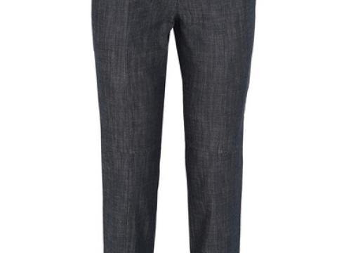 Camille ribbed jersey-trimmed high-rise straight-leg jeansHK $3,745 (TIBI)