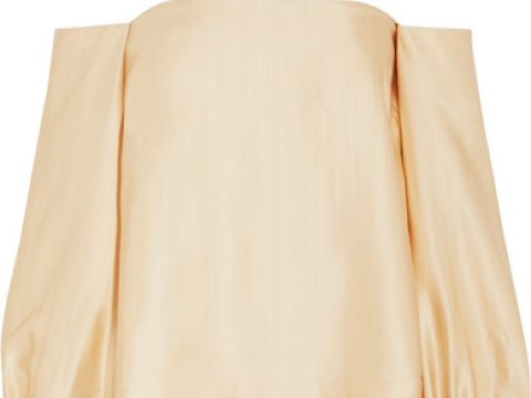 Nolita off-the-shoulder satin top HK$2,850 (ELIZABETH AND JAMES)
