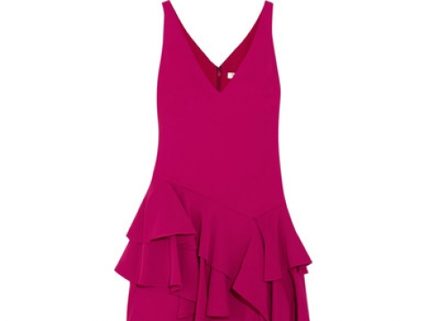 Tiered ruffled crepe maxi gown HK$2,550 (HALSTON HERITAGE)