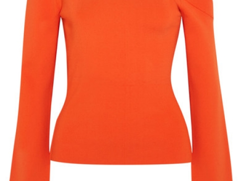 Mariette one-shoulder stretch-knit top HK$1,700 (SOLACE LONDON)