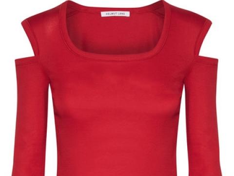 Cold-shoulder cotton-jersey top HK$847 (HELMUT LANG)