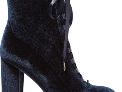 Clementine lace-up velvet ankle boots HK$1,080 (SAM EDELMAN)