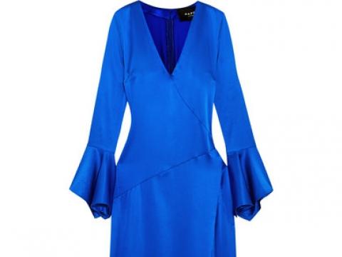 Automne asymmetric silk-blend satin maxi dress  HK$1,232 (PAPER LONDON)
